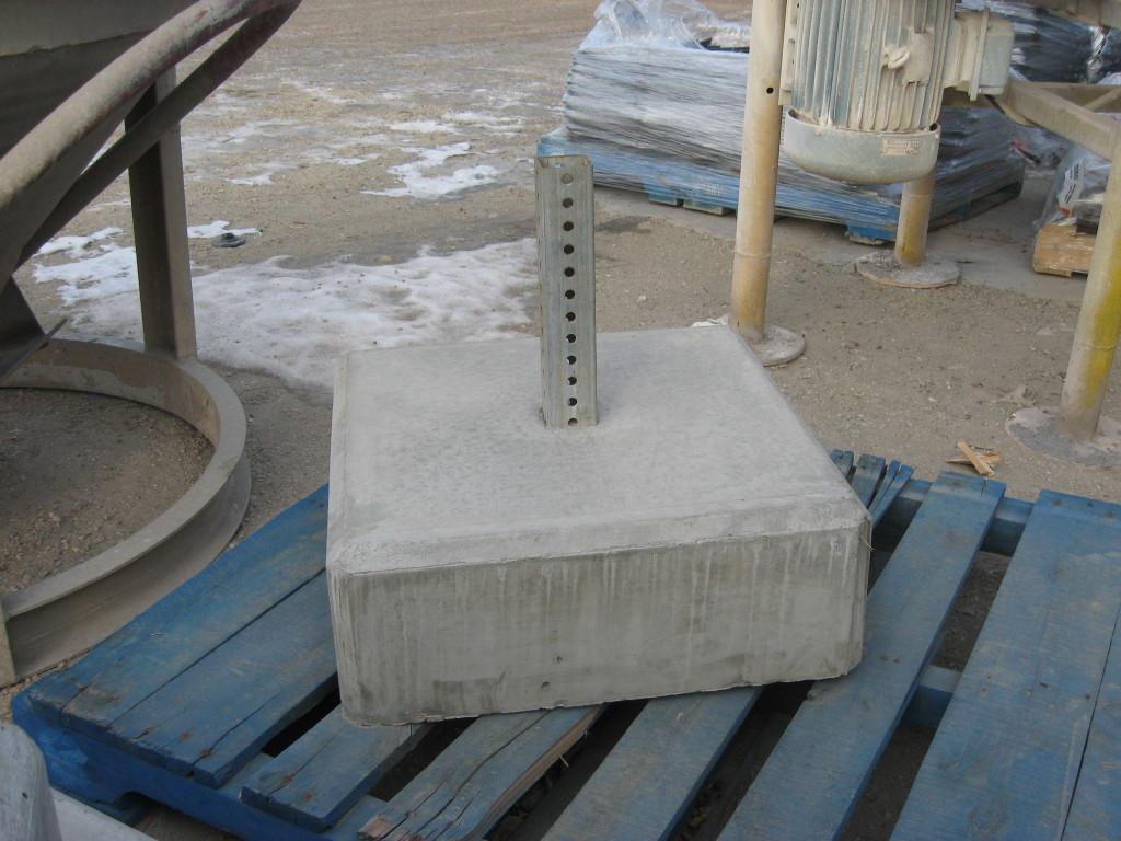 Concrete Sign Post Base Lafarge Precast Edmonton Alberta