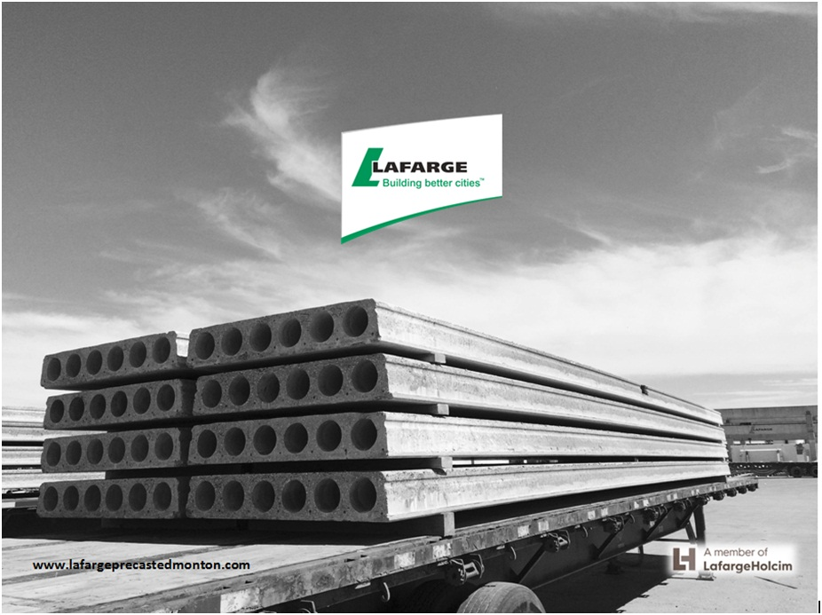 Precast concrete floor systems edmonton alberta lafarge for Precast concrete home kits