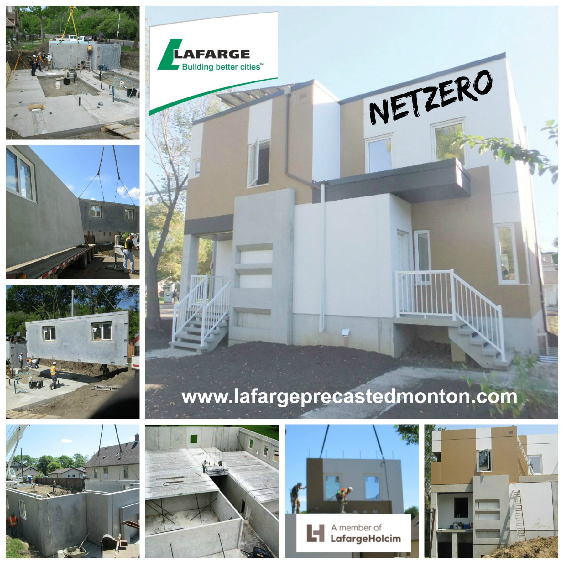 Netzero energy precast concrete homes edmonton lafarge Precast concrete residential homes