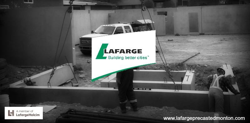 Precast concrete foundation walls alberta lafarge for Precast concrete basement walls cost